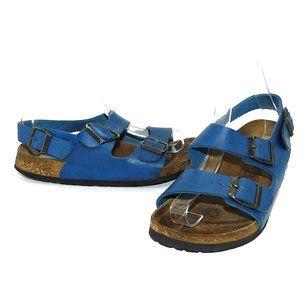 """Birkenstock """"Betula"""" Blue Ankle Strap Sandals"""